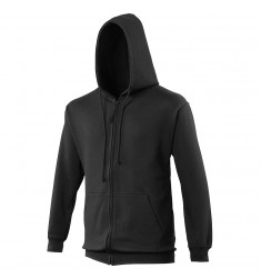 Zipped Hoody-Jet Black -TGS
